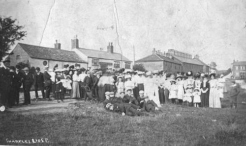 Outside the Crown at Hawk Green 1911