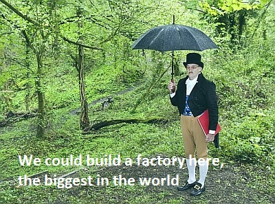 Build a facory here, the biggest in the world !