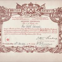 Certificates belonging to Miss Edith Edwards